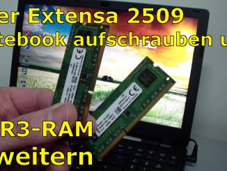 Acer Extensa 2509 Notebook RAM Erweitern Upgrade - [English subtitles]
