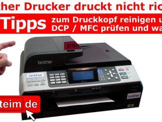 Brother Drucker druckt nicht richtig 10 Tipps Wartung und Fehler bei MFC DCP