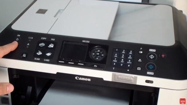 Canon Pixma Drucker Reset - Zurücksetzen - Reparieren FIX - ihr benötigt die Einschalt-Taste (ON) - bei diesem Gerät links ... und ...