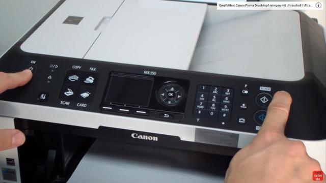 Canon Pixma Drucker Reset - Zurücksetzen - Reparieren FIX - der Drucker ist aus - drückt jetzt die rote Stopp-Taste und dann die Einschalt-Taste und haltet beide Tasten gedrückt