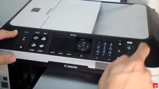 Canon Pixma Drucker Reset - Zurücksetzen - Reparieren FIX - drückt jetzt fünfmal (5x) die rote Stopp-Taste