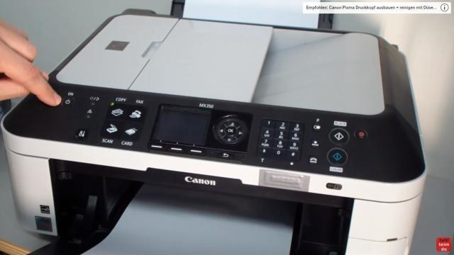 Canon Pixma Drucker Reset - Zurücksetzen - Reparieren FIX - jetzt kann die Einschalt-Taste auch losgelassen werden