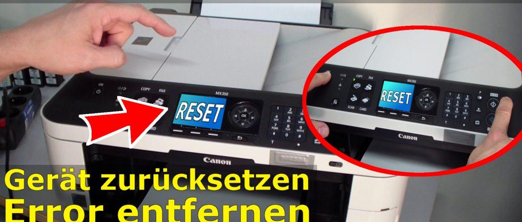 Canon Pixma Drucker Reset Reparatur FIX