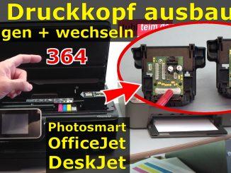 HP Druckkopf 364 ausbauen reinigen tauschen Elektronik prüfen