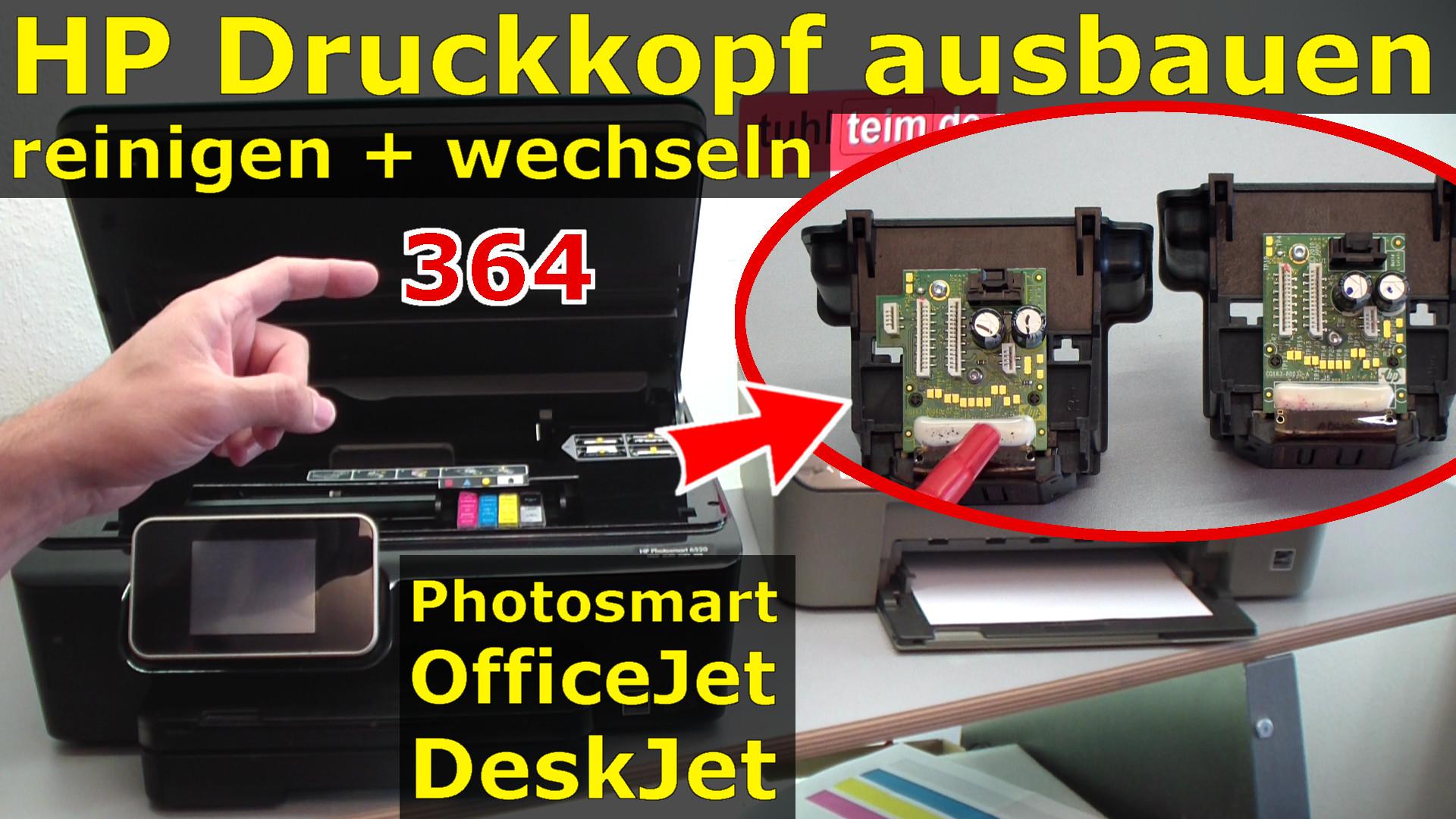 hp druckkopf 364 ausbauen reinigen wechseln 364 patronen bei photosmart officejet deskjet. Black Bedroom Furniture Sets. Home Design Ideas