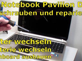 HP Hewlett Packard Pavilion dv6 mainboard lüfter ssd hdd einbauen reparieren