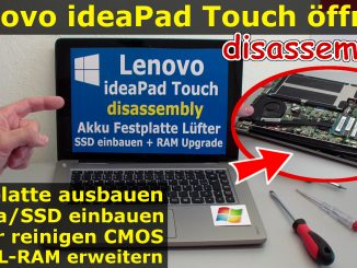 Lenovo ideaPad Touch SSD HDD Battery RAM Upgrade