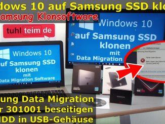 Samsung SSD Data Migration Festplatte klonen Klonsoftware 301001