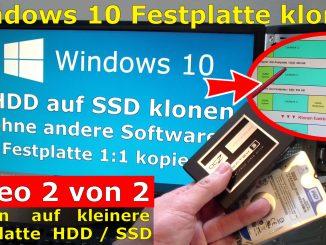 Windows 10 Festplatte SSD klonen ohne Extrasoftware Microsoft