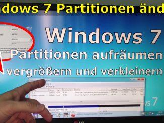 Windows 7 Partitionen vergrößern verkleinern Bordmittel aufräumen Festplatte HDD SSD