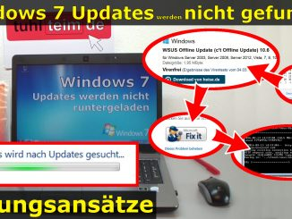 Windows 7 Updates blockiert updated nicht Problem