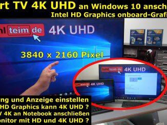 Smart TV 4K UHD an Windows 10 anschließen mit Intel HD Graphics - [mit 4K Video]