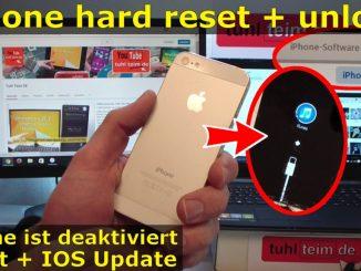 iPhone Hard Reset - Zurücksetzen auf Werkseinstellungen