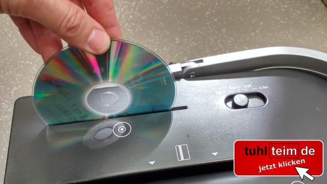 CD / DVD im Aktenvernichter mit Extra-Medien-Zufuhr