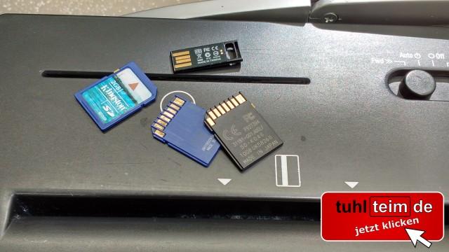 100% Datenvernichtung von CD, DVD, SSD und SIM-Karte im Aktenvernichter