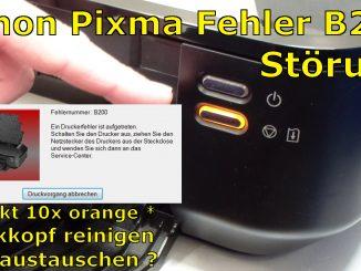 Canon Pixma B200 Fehler Error beheben Fix Reparatur Repair