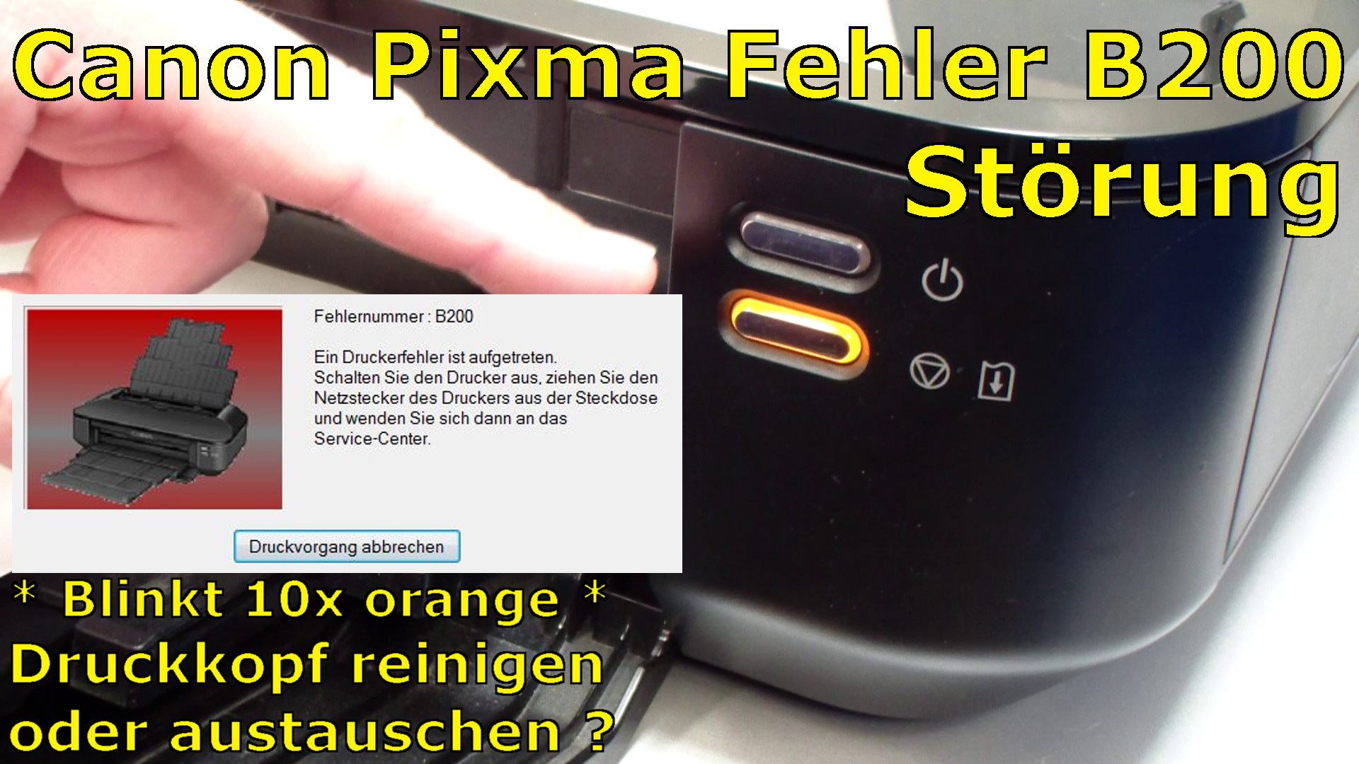 canon pixma b200 error fehler beheben fix mit video english subtitles tuhl teim de. Black Bedroom Furniture Sets. Home Design Ideas