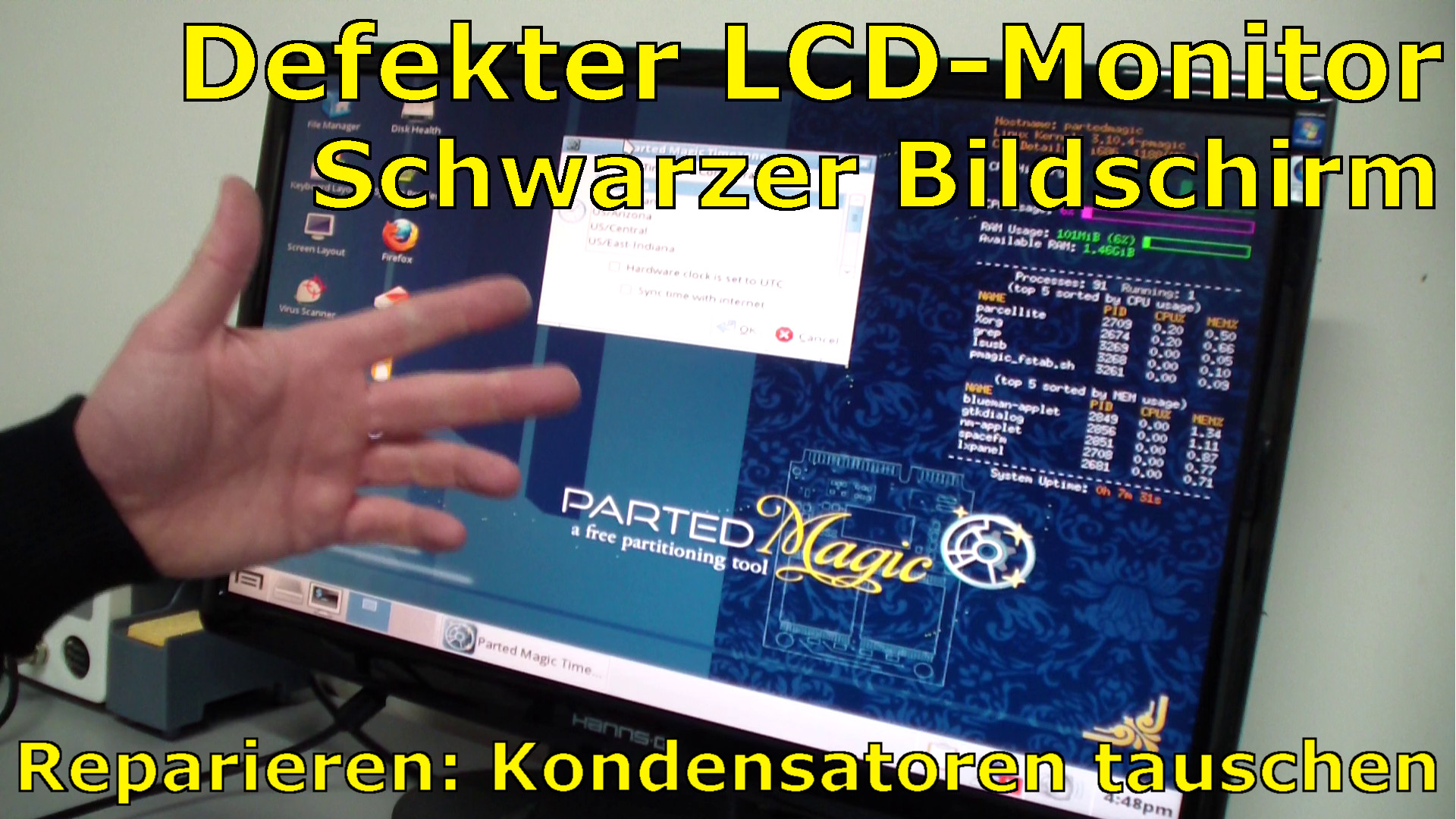 defekten lcd tft monitor reparieren schwarzer bildschirm mit video tuhl teim de. Black Bedroom Furniture Sets. Home Design Ideas