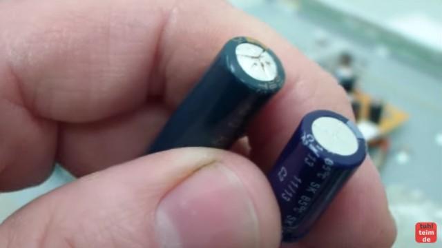 LCD TFT Monitor reparieren FIX defekter Kondensator
