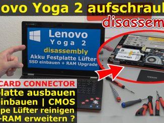 Lenovo Yoga 2 öffnen aufschrauben reparieren Edge Card Connector WD5000MPCK