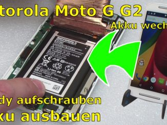 Motorola Moto G2 Akku wechseln