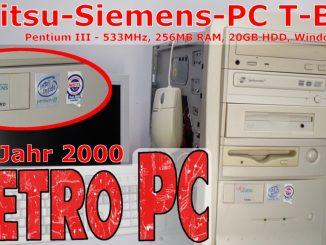 """RetroPC Fujitsu-Siemens PC """"T-Bird"""" aus dem Jahr 2000"""