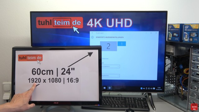 Smart TV 4K UHD an Windows 10 anschließen mit Intel HD Graphics