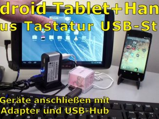USB-Stick Tastatur und Maus an Android-Tablet und Handy per OTG-Adapter