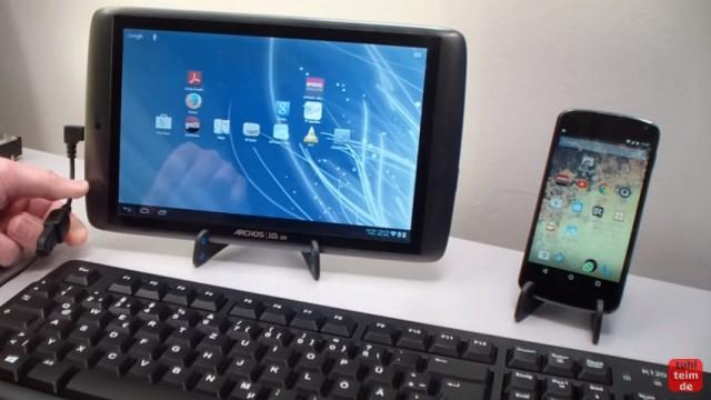 USB-Stick, Tastatur und Maus an Android Tablet und Handy mit OTG-Adapter