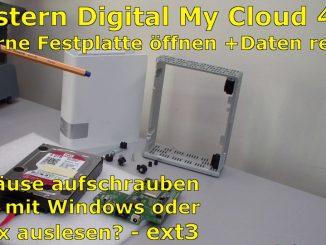 Western Digital My Cloud - WD 4TB öffnen und Daten retten