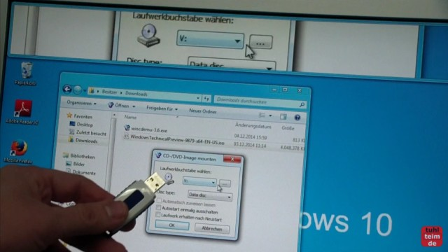 Windows 10 - Bootbaren USB-Stick mit Windows 10 ISO erstellen - WinCDEmu