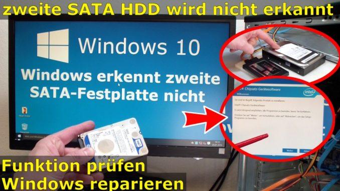 Windows 10 - zweite SATA Platte wird nicht erkannt gefunden FIX