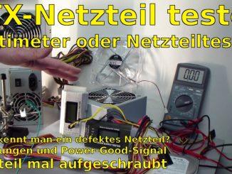 PC ATX Netzteil testen mit Multimeter oder Netzteiltester - Test von 3,3V + 5V + 12V