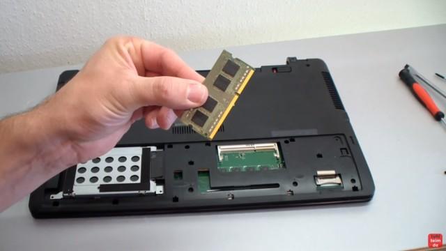 Asus R510L/C/V auseinanderbauen - SSD einbauen - RAM Upgrade - Lüfter ausbauen - DDR3L RAM Modul SoDimm