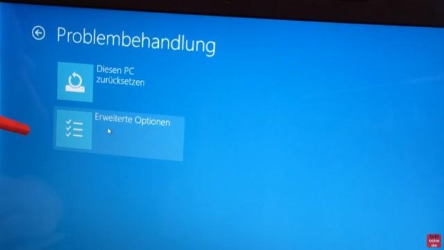 Bios starten Windows 10 - Notebook - ins UEFI BIOS gelangen - und im nächsten Fenster auf