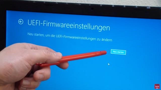 Bios starten Windows 10 - Notebook - ins UEFI BIOS gelangen - jetzt auf