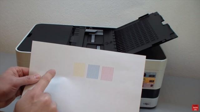Brother Drucker druckt nicht schwarz - Kopf reinigen ohne Ausbau - Luft im Schlauch - Bunt druckt richtig - Schwarz fehlt