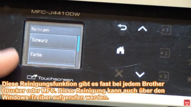 Brother Drucker druckt nicht schwarz - Kopf reinigen ohne Ausbau - Luft im Schlauch - zuerst Reinigung per Software