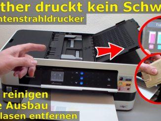 Brother Drucker druckt nicht schwarz - Kopf reinigen ohne Ausbau - Luft im Schlauch
