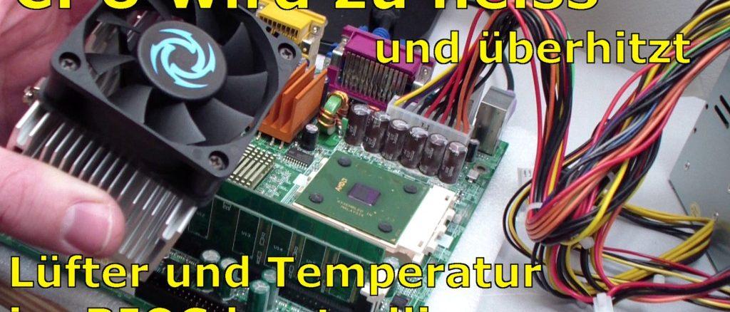 CPU wird zu heiss und überhitzt - PC schaltet sich aus - Temperatur im Bios kontrollieren