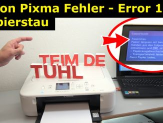 Canon Pixma Drucker Papierstau Fehlercode Supportcode 1303 FIX