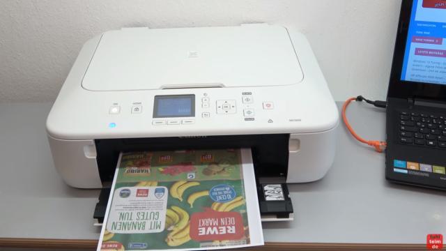 Canon Pixma Drucker Papierstau Fehlercode Supportcode 1303 FIX - Gerät wieder einschalten und Testdruck ausdrucken
