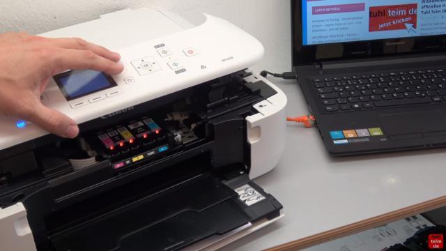 Canon Pixma Drucker Papierstau Fehlercode Supportcode 1303 FIX - Tipp: Druckkopf niemals mit der Hand bewegen, wenn der Drucker eingeschaltet ist
