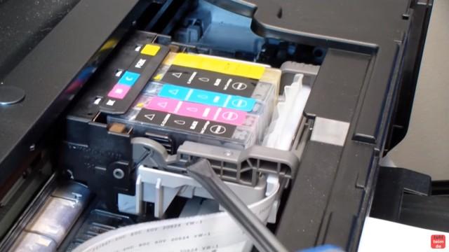 Canon Pixma B200 Error – Fehler beheben FIX - Druckermechanik prüfen - Freigängigkeit des Druckkopfs
