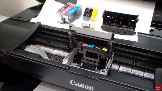 Canon Pixma B200 Error – Fehler beheben FIX - Druckkopf und Tintenpatronen ausbauen