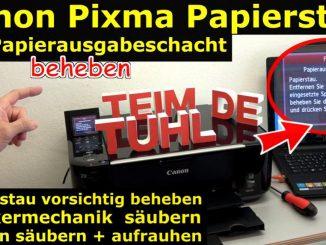Canon Pixma Drucker Papierstau Problem beheben - Papierausgabeschacht
