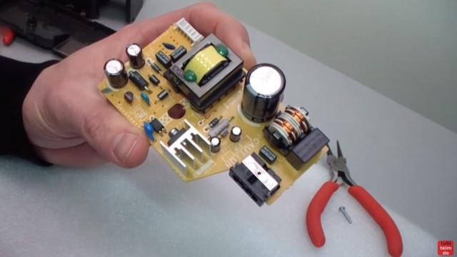 Canon Pixma Drucker funktioniert nicht / ohne Funktion - defekt? Netzteil ausbauen und testen - das Netzteil ohne Gehäuse - Vorsicht! 230V