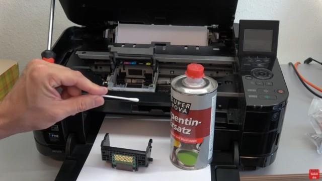 Canon Pixma Druckkopfprobleme beseitigen - Fehler beheben FIX - U052 Druckkopftyp ist nicht korrekt - Kontakte des Kopfs reinigen