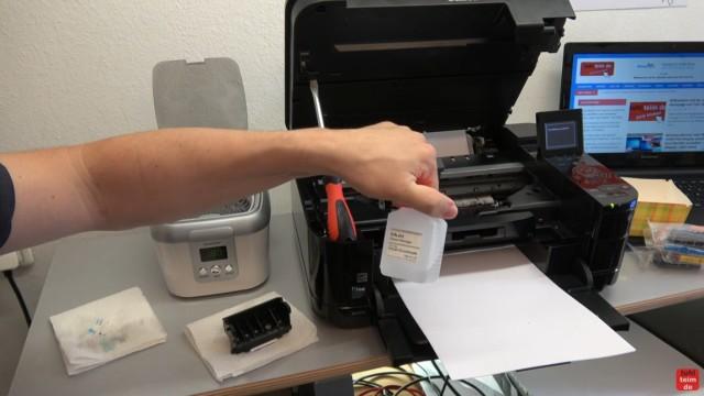 Canon Pixma Druckkopfprobleme beseitigen - Fehler beheben FIX - U052 Druckkopftyp ist nicht korrekt - Druckkopf Druckkopfreiniger reinigen