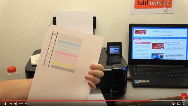 Canon Pixma Druckkopfprobleme beseitigen - Fehler beheben FIX - U052 Druckkopftyp ist nicht korrekt - einwandfreier Ausdruck mit anderem Druckkopf